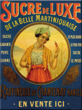 Sucre De Luxe Tin Sign