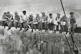 Stahlarbeiter in Manhattan Kunstdruck