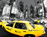 Rush Hour Times Square - Yellow Cabs Prints