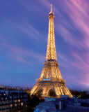 Eiffel Tower at Dusk Prints