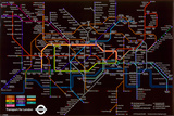 London Underground (Black Map) Photo