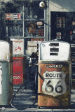 Route 66 - Gas Station Affiche