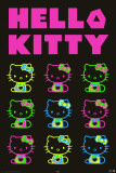 Hello Kitty - Neon Party Print