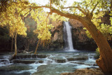 Waterfall on Havasu Creek - Poster