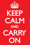 Keep Calm - RED Posters