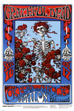 Family Dog - Grateful Dead - Skeleton &amp; Roses Print
