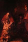 Návrat marnotratného syna, circa 1668-69 Obrazy