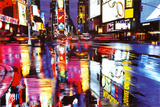 Times Square New York - City Color Reflections Plakaty