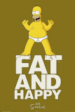 Simpsons - Fat And Happy Prints