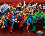 Marvel Heroes - Attack Print