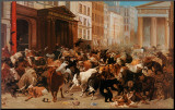 Bulls and Bears in the Market Mounted Print by William Holbrook Beard