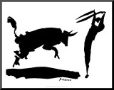 Corrida III Umocowany wydruk autor Pablo Picasso
