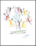 Ungdomens dans Monterat tryck av Pablo Picasso