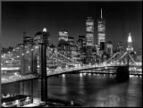 New York, Brooklyn Bridge Kunst op hout van Henri Silberman