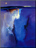 Violet Horizon Mounted Print by Peter Wileman