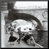 Rock 'n' Roll sur les Quais de Paris Mounted Print by Paul Almasy