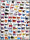 100 Cats and a Mouse Mounted Print by Vittorio
