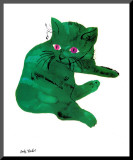 Chat vert, vers 1956 Affiche montée par Andy Warhol