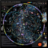 Map of Universe - &#169;Spaceshots Mounted Print