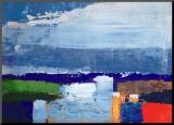 Pejzaż w południe (Noon Landscape) Umocowany wydruk autor Nicolas De Staël
