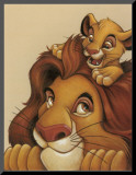 Simba and Mufasa: My Father, My Friend Mounted Print