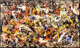 Sammanstrålande Print på trä av Jackson Pollock