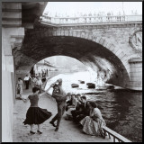 Rock 'n' Roll sur les Quais de Paris Mounted Print by Paul Almasy