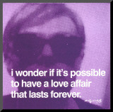 Love Affair Mounted Print by Andy Warhol