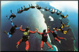 Teamwork: Skydivers II Mounted Print