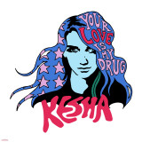 Ke$ha - Your Love is my Drug Stretched Canvas Print