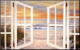 Sunset Beach Mounted Print by Diane Romanello