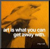 Arte Impressão montada por Andy Warhol