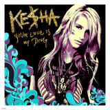 Ke$ha Stretched Canvas Print