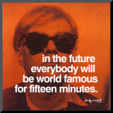 Fifteen Minutes Mounted Print by Andy Warhol