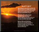 Don't Quit Mounted Print