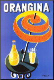 Orangina Mounted Print by Bernard Villemot