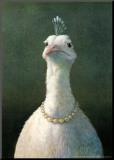 Ave con perlas Lámina montada en tabla por Michael Sowa