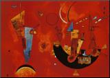 Voor en tegen, ca.1929 Kunstdruk geperst op hout van Wassily Kandinsky