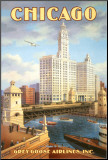 Chicago Mounted Print by Kerne Erickson