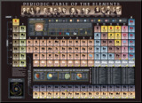 Periodic Table Chart - ©Spaceshots Mounted Print