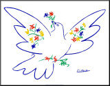 Dove of Peace Mounted Print by Pablo Picasso