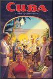 Cuba, Land of Romance Umocowany wydruk autor Kerne Erickson