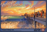 Huntington Beach Mounted Print by Kerne Erickson