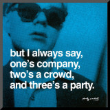 Three&#39;s a Party Mounted Print by Andy Warhol