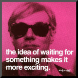 Waiting Mounted Print by Andy Warhol