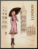 London Mounted Print by Andrea Laliberte