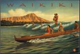 Waikiki Mounted Print by Kerne Erickson