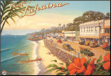 Visit Lahaina Mounted Print by Kerne Erickson