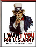 I Want You for the U.S. Army, c.1917 Mounted Print by James Montgomery Flagg