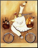 Chef To Go Mounted Print by Jennifer Garant